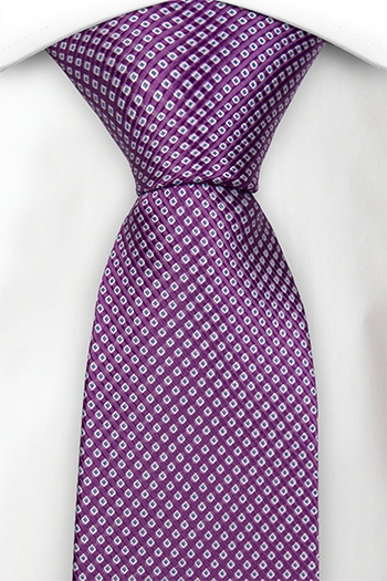 Notch Hamza purple tie